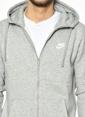 Nike Kapüşonlu Fermuarlı Sweatshirt Gri